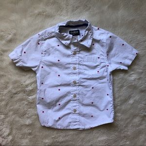 OshKosh Short Sleeved Button Down Canada Shirt 3T